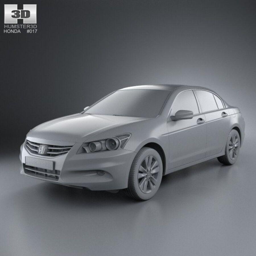 혼다 어코드 세단 2012 royalty-free 3d model - Preview no. 11