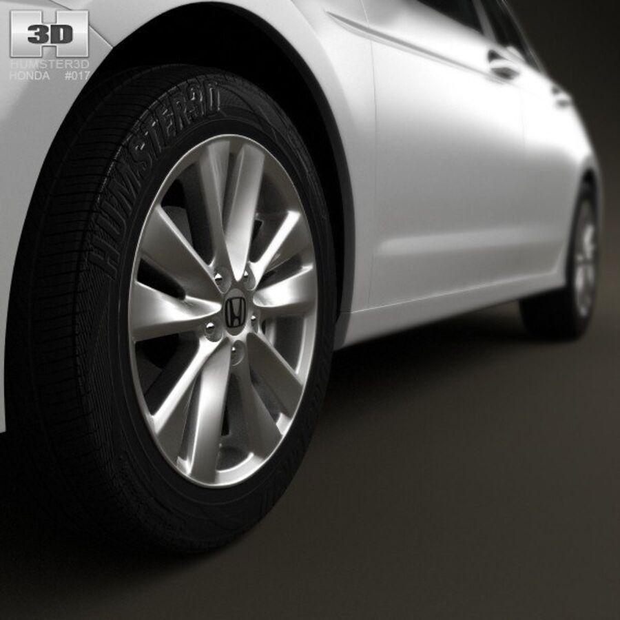 혼다 어코드 세단 2012 royalty-free 3d model - Preview no. 8