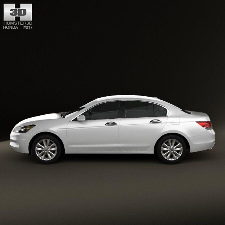 혼다 어코드 세단 2012 royalty-free 3d model - Preview no. 5