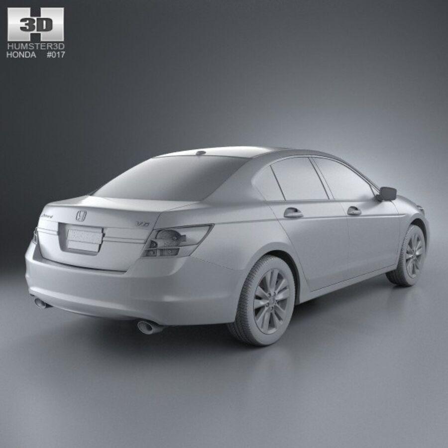 혼다 어코드 세단 2012 royalty-free 3d model - Preview no. 12
