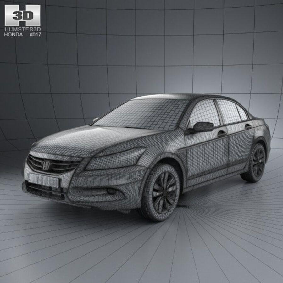 혼다 어코드 세단 2012 royalty-free 3d model - Preview no. 3