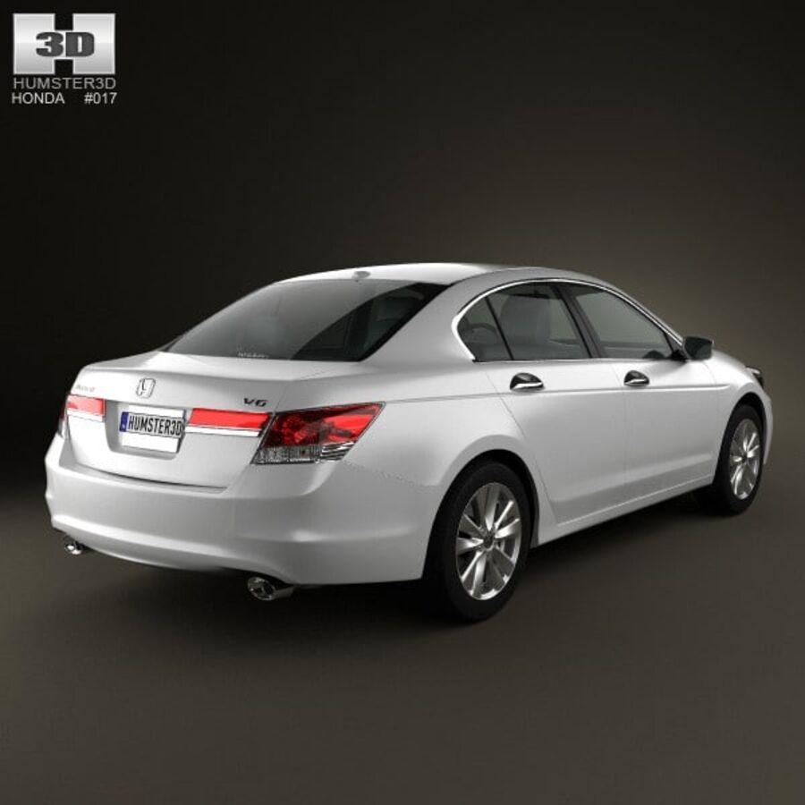 혼다 어코드 세단 2012 royalty-free 3d model - Preview no. 2