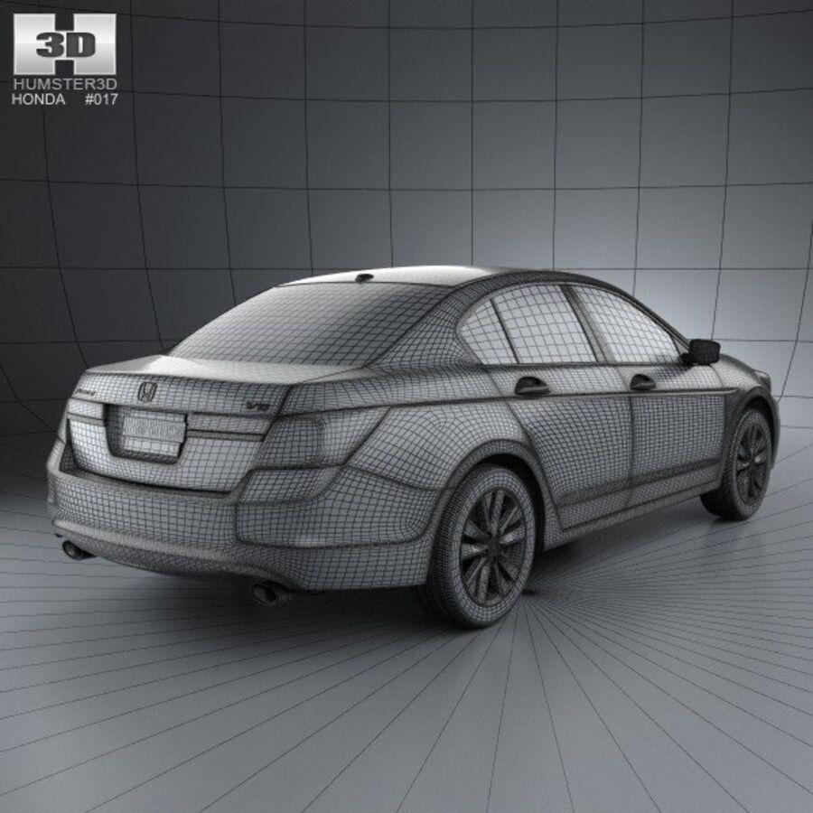 혼다 어코드 세단 2012 royalty-free 3d model - Preview no. 4