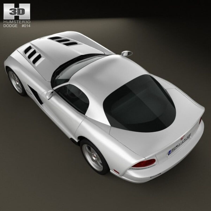Dodge Viper SRT10 2010 royalty-free 3d model - Preview no. 9