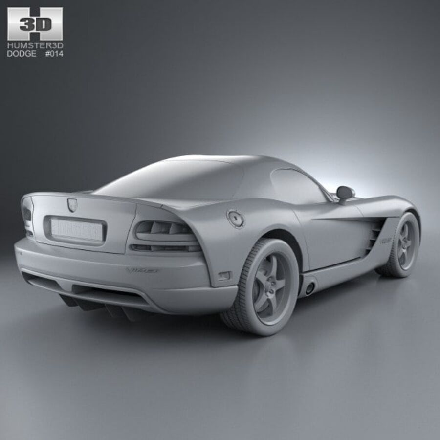 Dodge Viper SRT10 2010 royalty-free 3d model - Preview no. 12