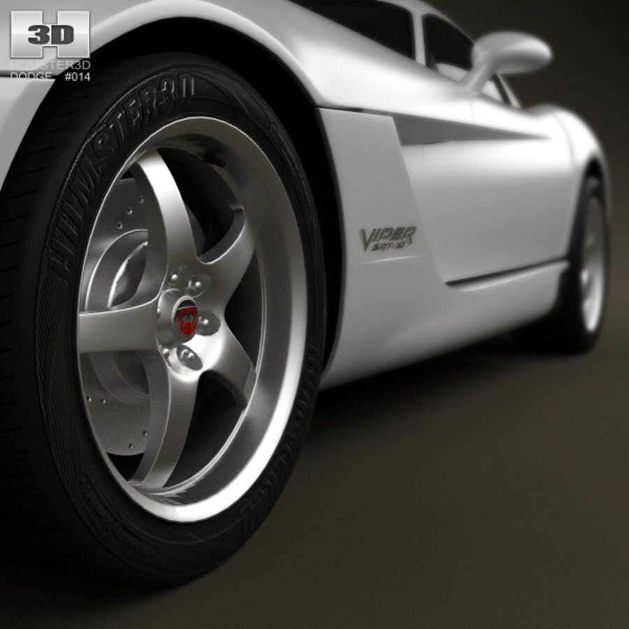 Dodge Viper SRT10 2010 royalty-free 3d model - Preview no. 8