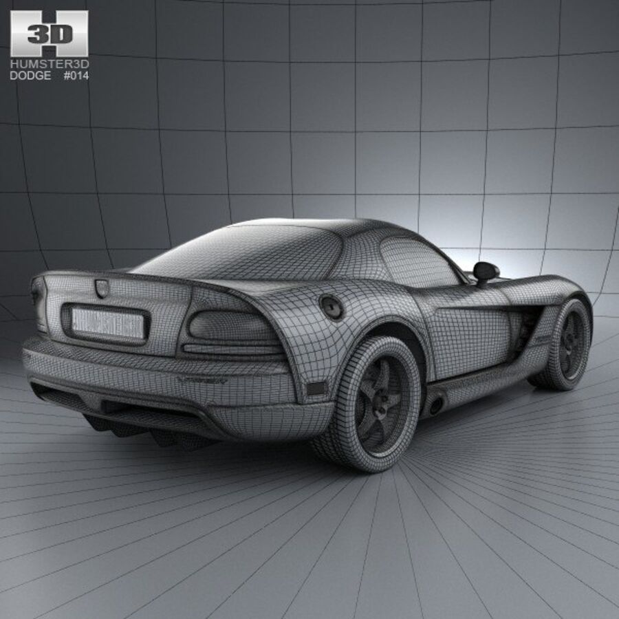 Dodge Viper SRT10 2010 royalty-free 3d model - Preview no. 4