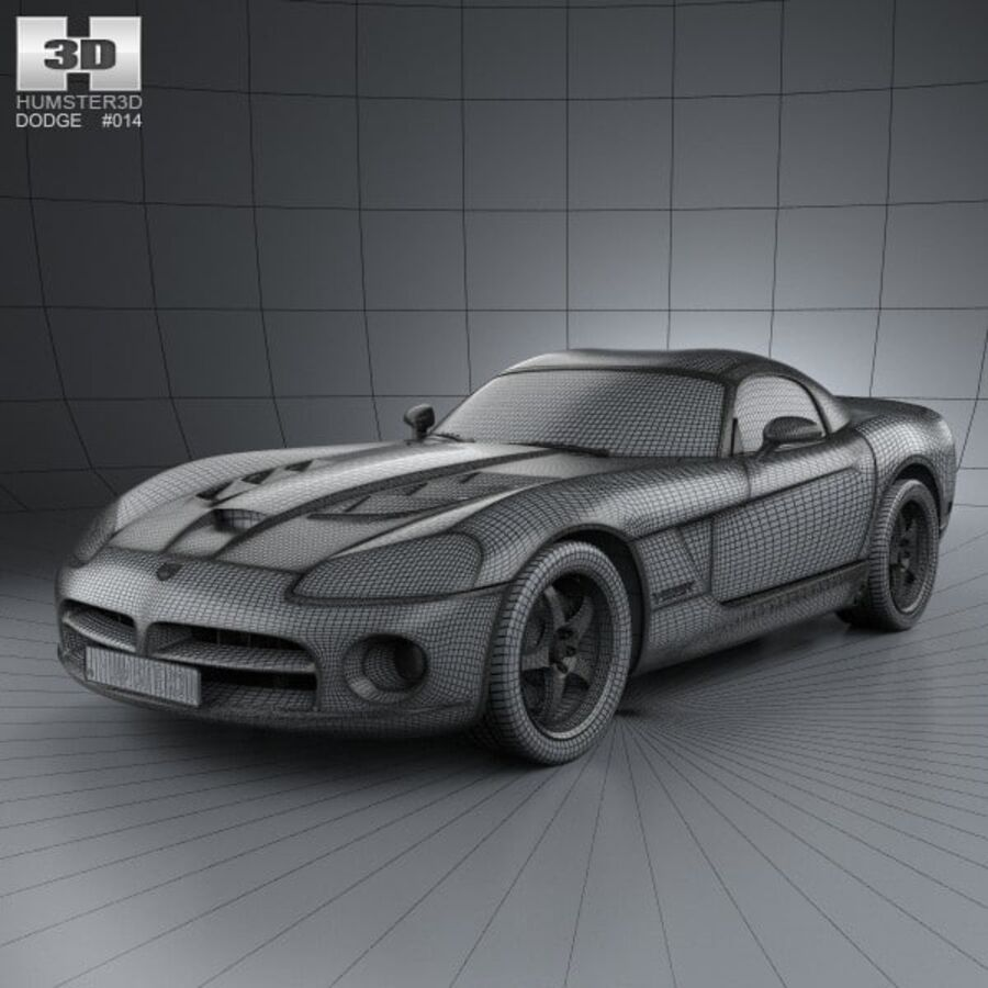 Dodge Viper SRT10 2010 royalty-free 3d model - Preview no. 3