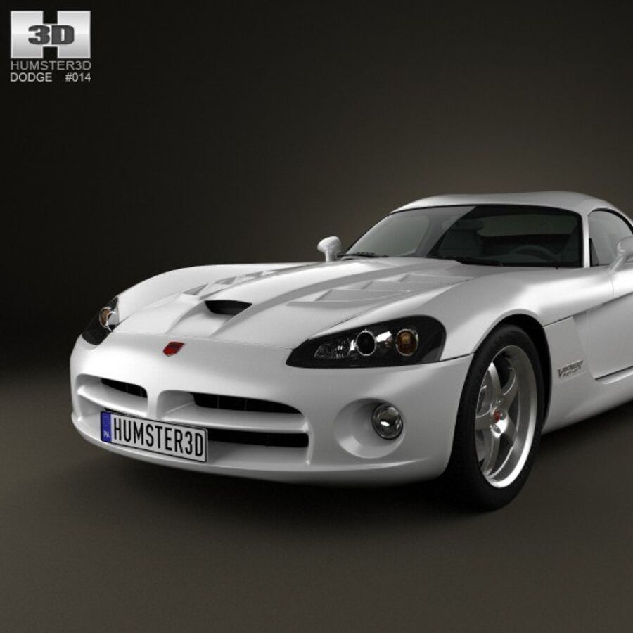 Dodge Viper SRT10 2010 royalty-free 3d model - Preview no. 6