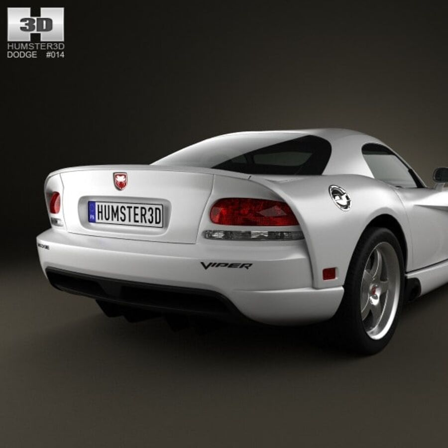 Dodge Viper SRT10 2010 royalty-free 3d model - Preview no. 7