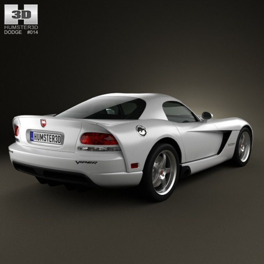 Dodge Viper SRT10 2010 royalty-free 3d model - Preview no. 2