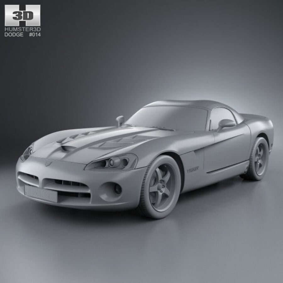 Dodge Viper SRT10 2010 royalty-free 3d model - Preview no. 11