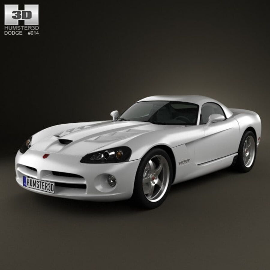 Dodge Viper SRT10 2010 royalty-free 3d model - Preview no. 1