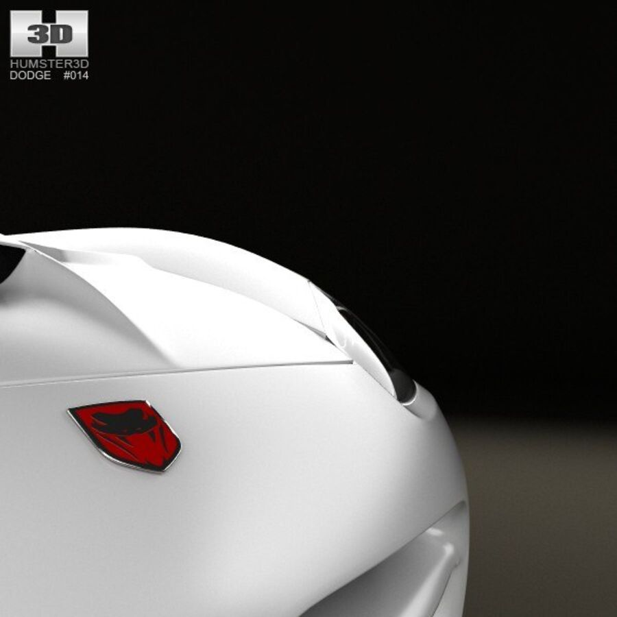 Dodge Viper SRT10 2010 royalty-free 3d model - Preview no. 10