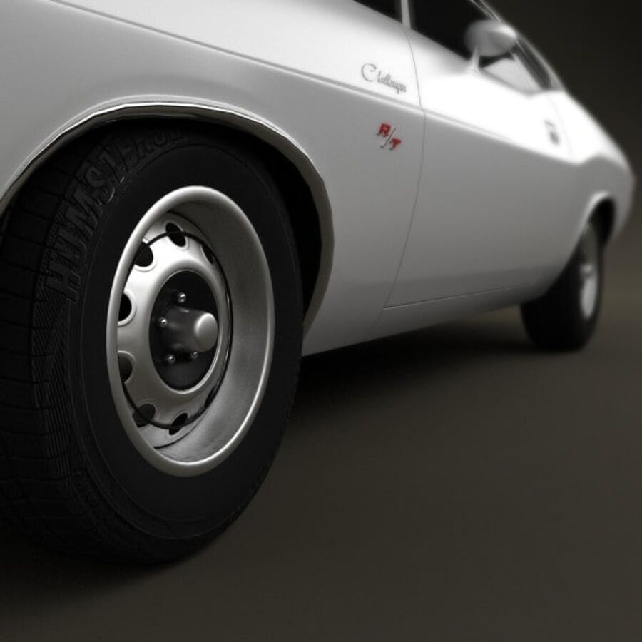 Dodge Challenger hardtop 1970 royalty-free 3d model - Preview no. 8