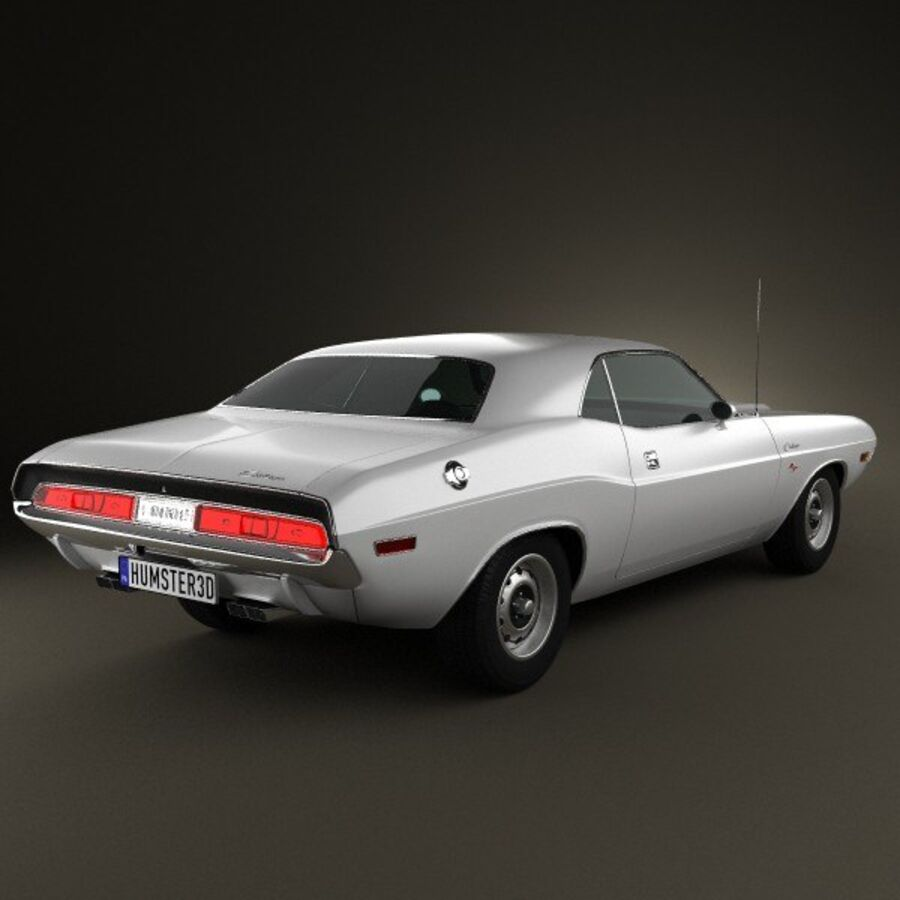 Dodge Challenger hardtop 1970 royalty-free 3d model - Preview no. 2