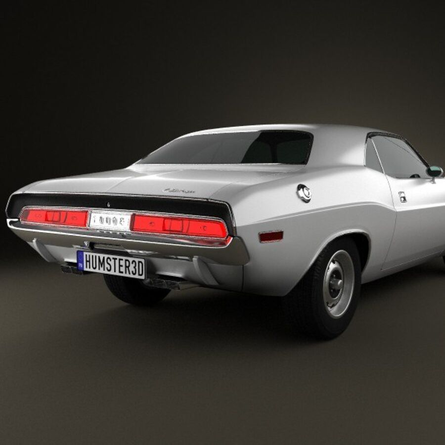 Dodge Challenger hardtop 1970 royalty-free 3d model - Preview no. 7