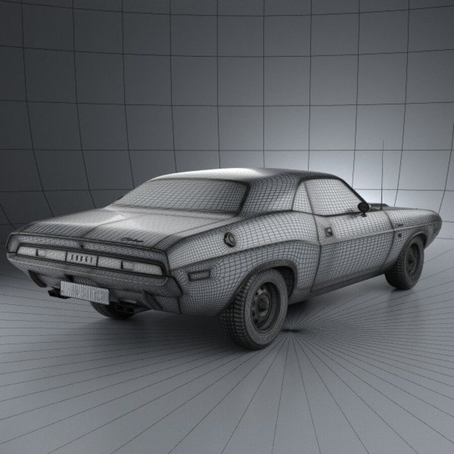 Dodge Challenger hardtop 1970 royalty-free 3d model - Preview no. 4