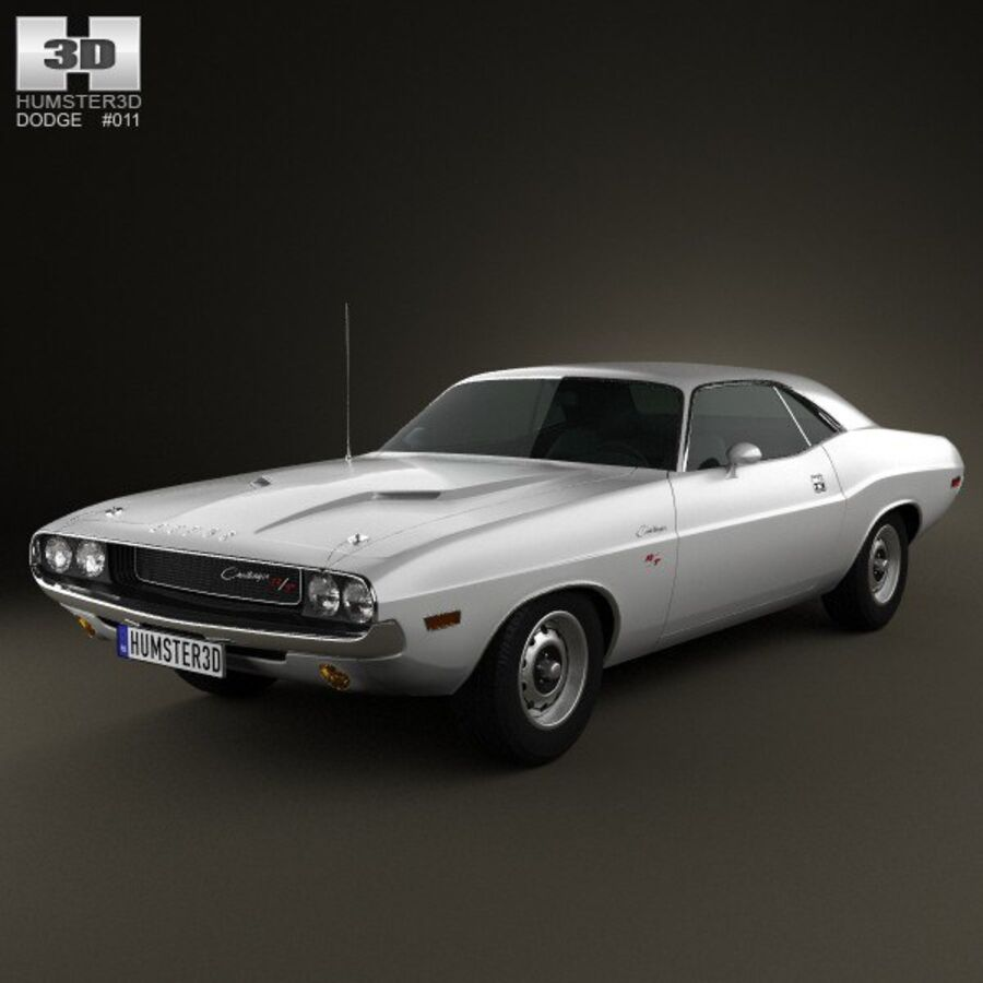 Dodge Challenger hardtop 1970 royalty-free 3d model - Preview no. 1