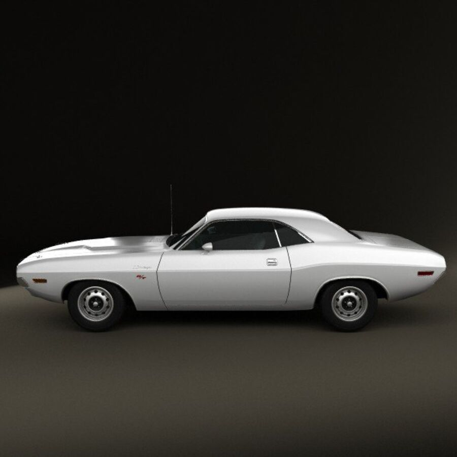 Dodge Challenger hardtop 1970 royalty-free 3d model - Preview no. 5