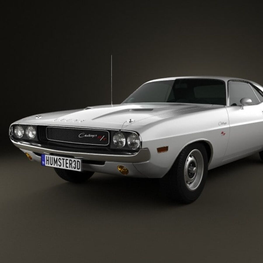 Dodge Challenger hardtop 1970 royalty-free 3d model - Preview no. 6