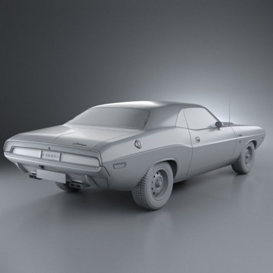 Dodge Challenger hardtop 1970 royalty-free 3d model - Preview no. 12