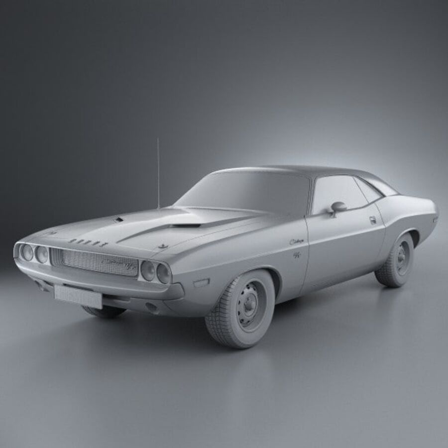 Dodge Challenger hardtop 1970 royalty-free 3d model - Preview no. 11