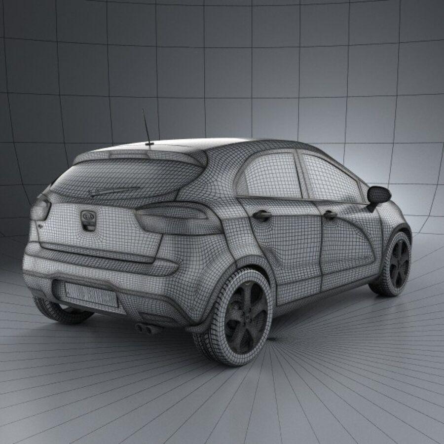 Kia Rio 5door 2012 royalty-free 3d model - Preview no. 4