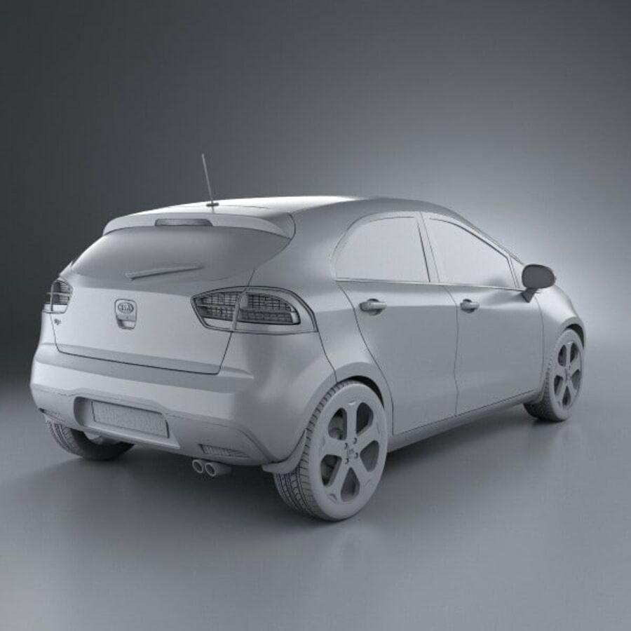 Kia Rio 5door 2012 royalty-free 3d model - Preview no. 12