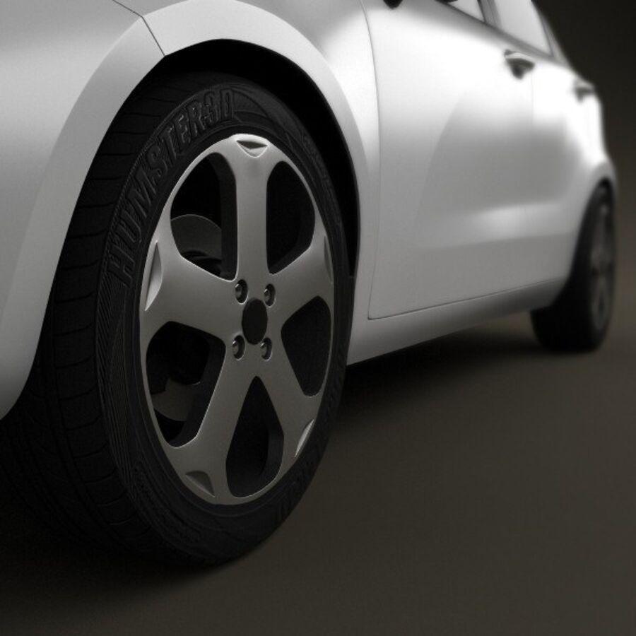 Kia Rio 5door 2012 royalty-free 3d model - Preview no. 8