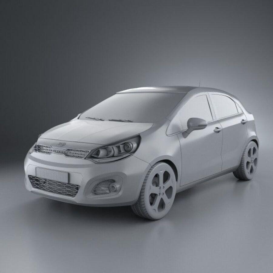 Kia Rio 5door 2012 royalty-free 3d model - Preview no. 11