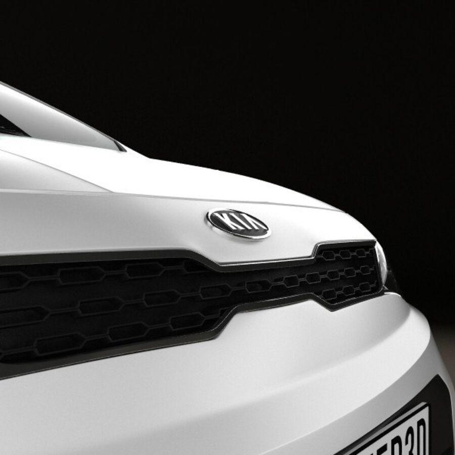 Kia Rio 5door 2012 royalty-free 3d model - Preview no. 10