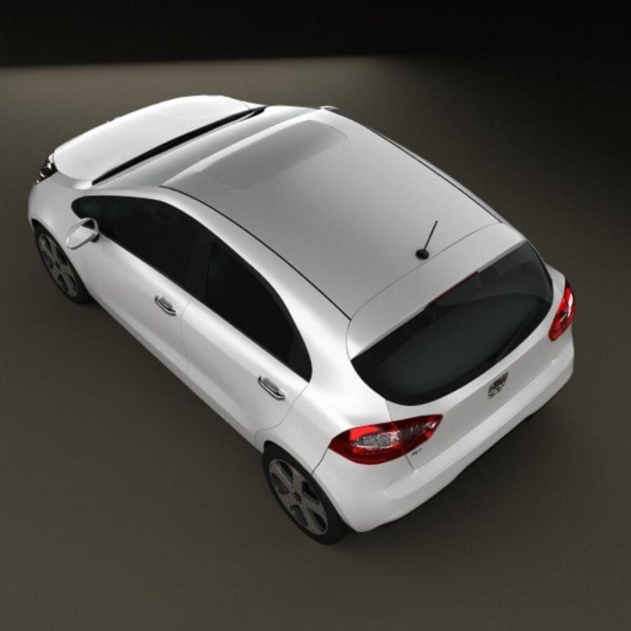 Kia Rio 5door 2012 royalty-free 3d model - Preview no. 9