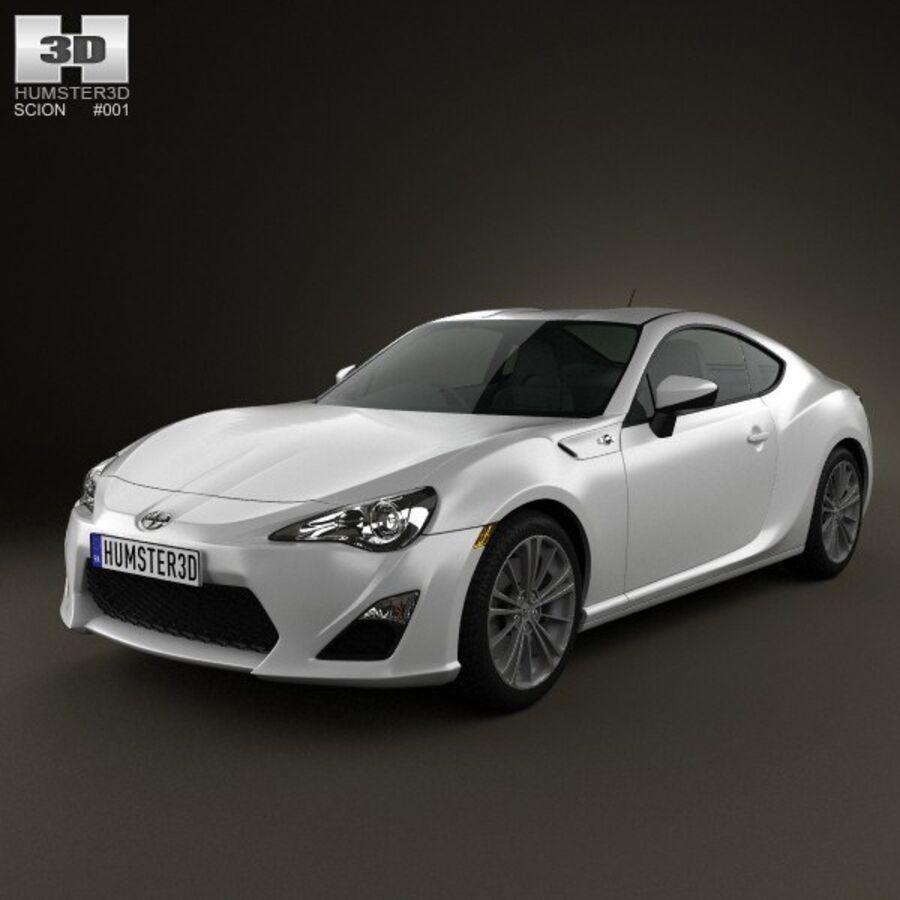 Vástago FR-S 2013 royalty-free modelo 3d - Preview no. 1