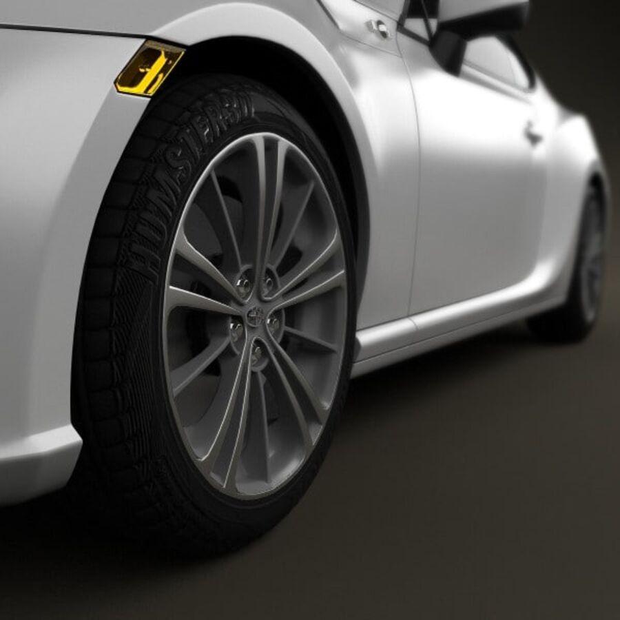 Vástago FR-S 2013 royalty-free modelo 3d - Preview no. 8