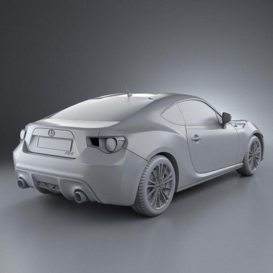 Vástago FR-S 2013 royalty-free modelo 3d - Preview no. 12