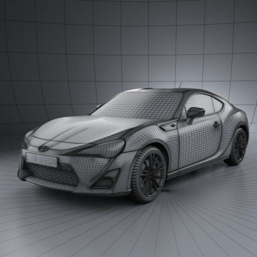 Vástago FR-S 2013 royalty-free modelo 3d - Preview no. 3