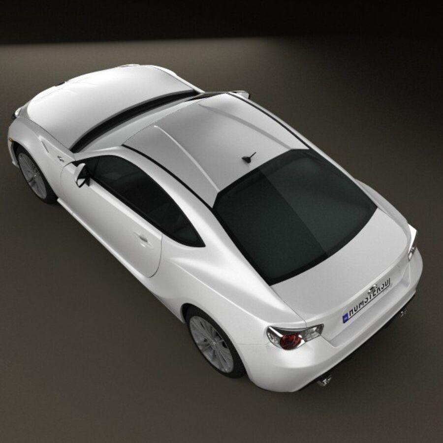 Vástago FR-S 2013 royalty-free modelo 3d - Preview no. 9