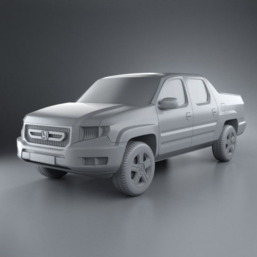 Honda Ridgeline 2009 royalty-free 3d model - Preview no. 11