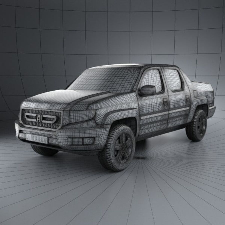Honda Ridgeline 2009 royalty-free 3d model - Preview no. 3