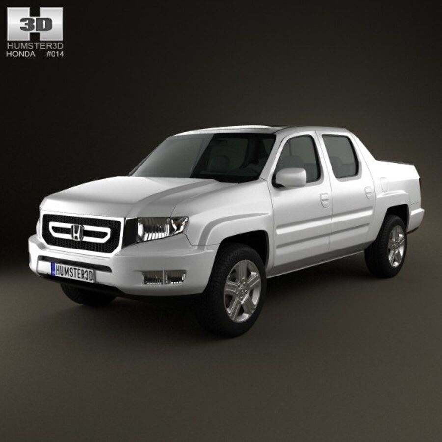Honda Ridgeline 2009 royalty-free 3d model - Preview no. 1