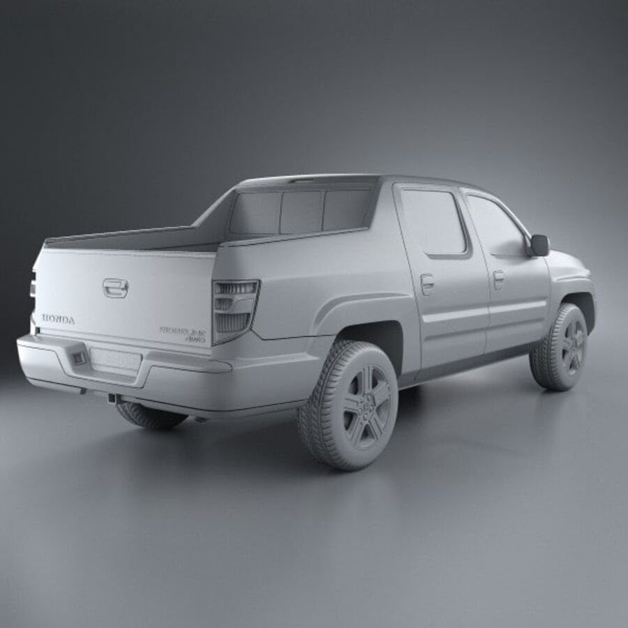 Honda Ridgeline 2009 royalty-free 3d model - Preview no. 12