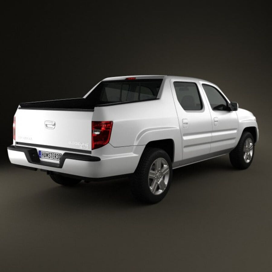 Honda Ridgeline 2009 royalty-free 3d model - Preview no. 2