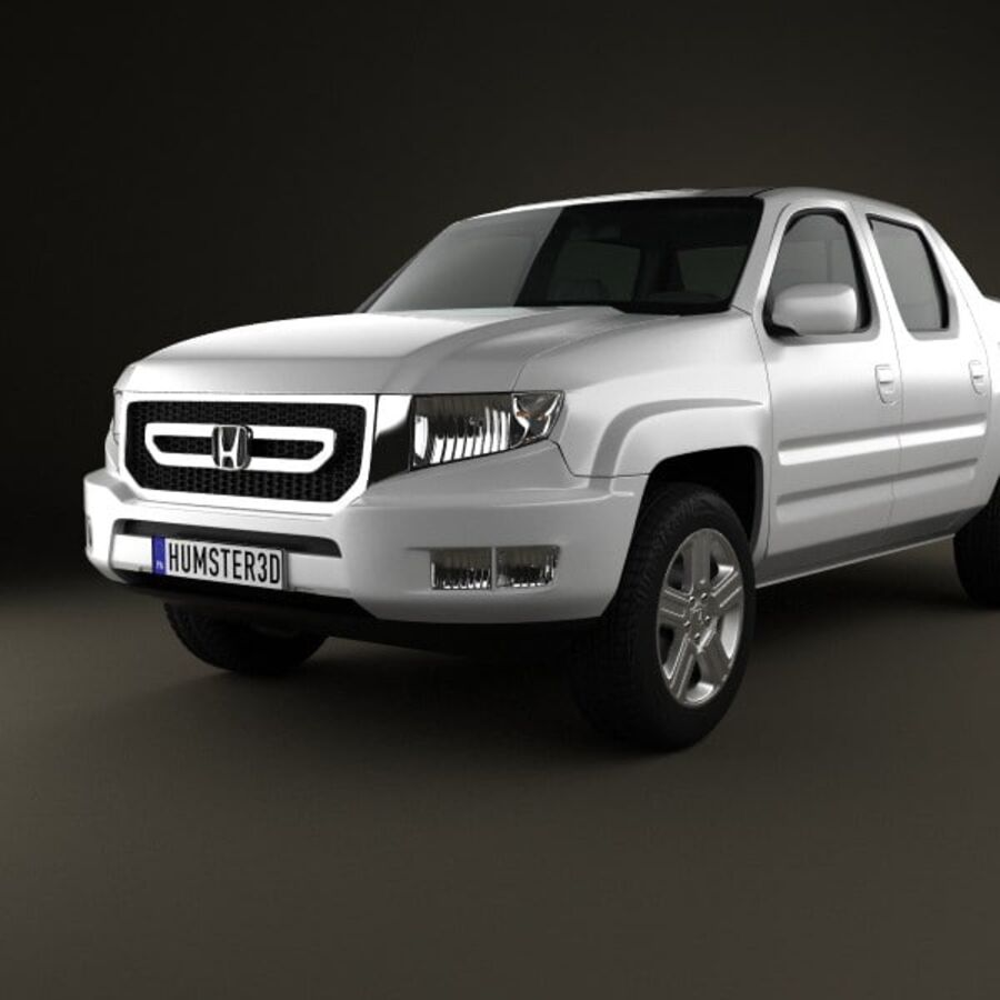 Honda Ridgeline 2009 royalty-free 3d model - Preview no. 6