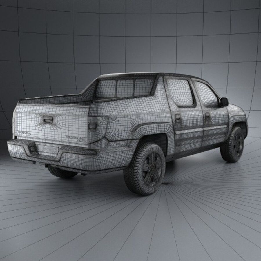 Honda Ridgeline 2009 royalty-free 3d model - Preview no. 4