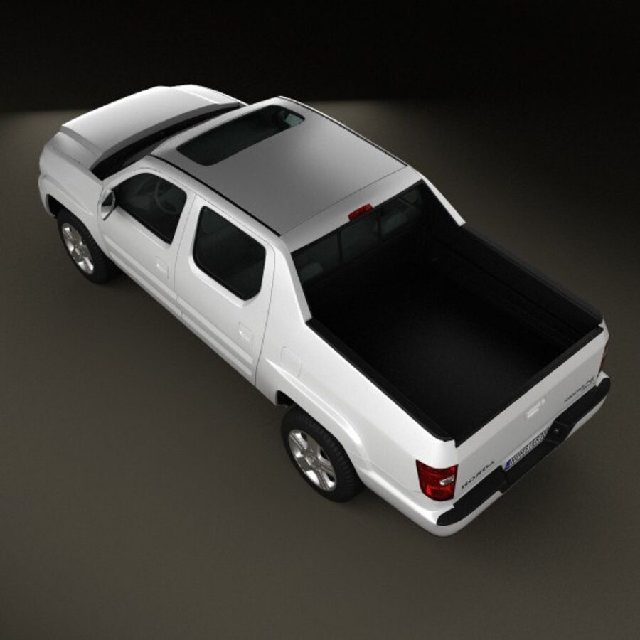 Honda Ridgeline 2009 royalty-free 3d model - Preview no. 9