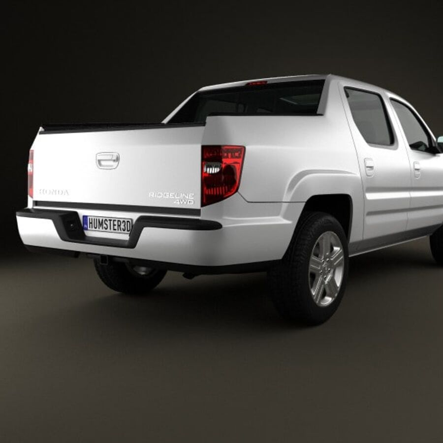 Honda Ridgeline 2009 royalty-free 3d model - Preview no. 7