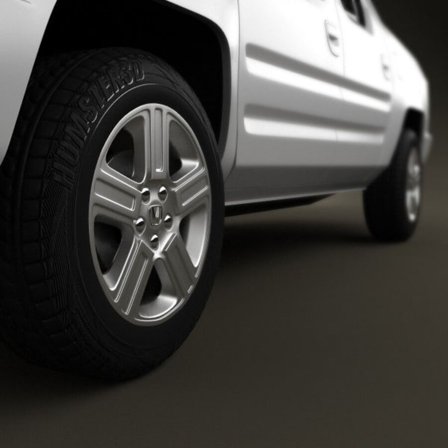 Honda Ridgeline 2009 royalty-free 3d model - Preview no. 8