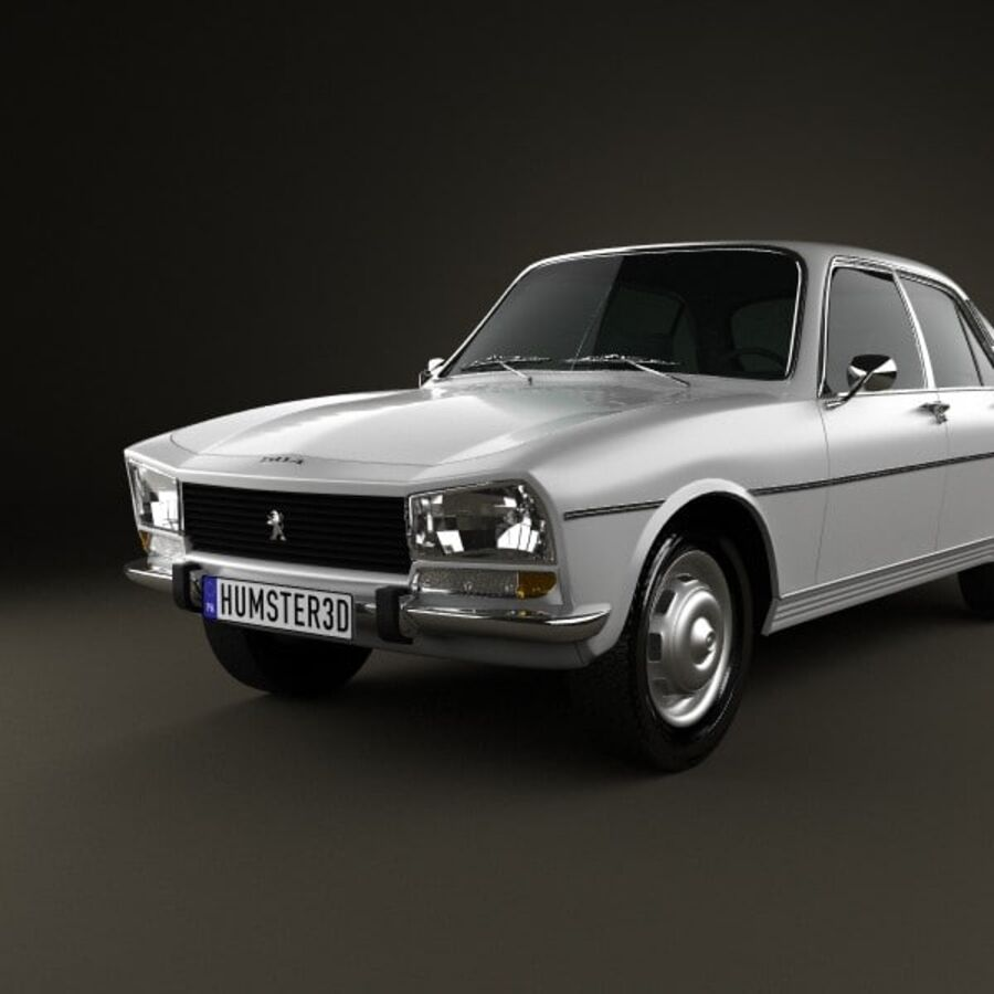 Peugeot 504 Седан 1970 royalty-free 3d model - Preview no. 6