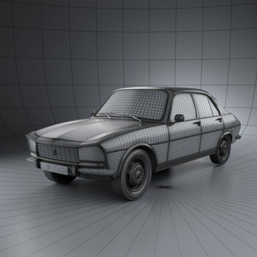 Peugeot 504 Седан 1970 royalty-free 3d model - Preview no. 3